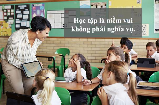 Gia sư quận Hoàng Mai khẳng định học tập là niềm vui, không phải nghĩa vụ